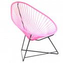 Pink Acapulco Stuhl Schwarz Struktur