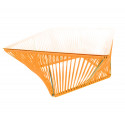 Orange design Quadrat Couchtisch
