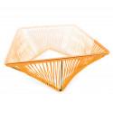 Détail Table basse carré Orange