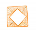 Zoom orange veracruz coffee table