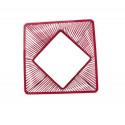 zoom Bordeaux Rot design quadrat gartentisch