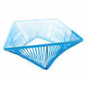 Détail Table basse carré Bleu