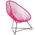 Acapulco Fushia Chair and Black frame