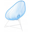 Acapulco Sky Blue Chair and White frame