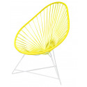 Acapulco Imperial Yellow Chair and White frame