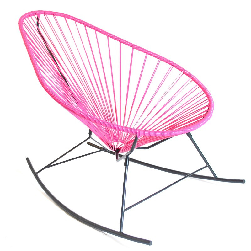 The acapulco rocking chair for Schaukelstuhl pink