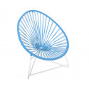 sky blue Acapulo chair for kids with White frame