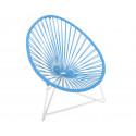 silla acapulco con estructura blanca para niños Azul Cielo
