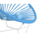 sky blue Detail Acapulo chair for kids with White frame