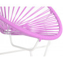 Pink Detail Acapulo chair for kids with White frame