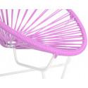 silla acapulco con estructura blanca para niños Rosa
