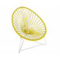 Silla acapulco con estructura blanca para niños Amarillo limón