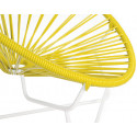 Lemon Yellow Detail Acapulo chair for kids with White frame