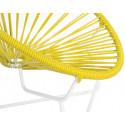 Detalle de Pequena Silla acapulco con estructura blanca Amarillo limón