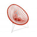 Red Acapulo chair for kids with White frame