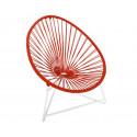 silla acapulco con estructura blanca para niños Rojo