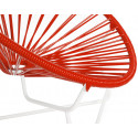 Red Detail Acapulo chair for kids with White frame