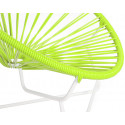Green Detail Acapulo chair for kids with White frame