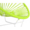 silla acapulco con estructura blanca para niños Verde
