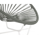 Gray Detail Acapulo chair for kids with White frame