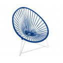 Night Blue Acapulo chair for kids with White frame