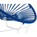 Night Blue Detail Acapulo chair for kids with White frame