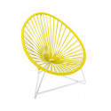 Yellow Acapulo chair for kids with White frame