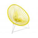 silla acapulco con estructura blanca para niños Amarillo