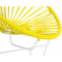 Yellow Detail Acapulo chair for kids with White frame