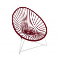 Purple Bordeaux Acapulo chair for kids with White frame