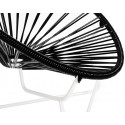 Black Acapulo chair for kids with White frame