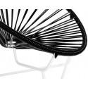 silla acapulco con estructura blanca para niños Negro