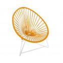 fauteuil Acapulco Structure Blanche enfant Orange