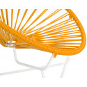 orange Detail Acapulo chair for kids with White frame