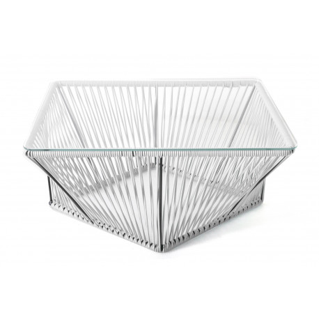 Table basse rectangle Blanche
