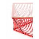 Détail table basse Rectangle rouge