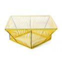 Yellow design coffee table