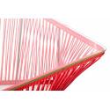 Détail table basse Acapulco rouge