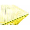 Detalle Grande Mesa baja de jardin amarillo