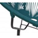 Detail Ocean BLue Round Acapulco chair