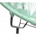 detaille de silla Acapulco Ronda verde blanco
