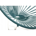 fauteuil Acapulco Structure Blanche Enfant Bleu Canard
