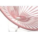 fauteuil Acapulco Structure Blanche Enfant Rose Poudré