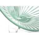 fauteuil Acapulco Structure Blanche Enfant Vert Blanc