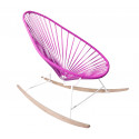 Magenta Acapulco wood rocker white frame chair