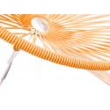détail fauteuil bascule bois Acapulco Structure Blanche tressage Orange