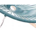 Blaue Ente Acapulco Weiss Estruktur Schaukelstuhl Detail