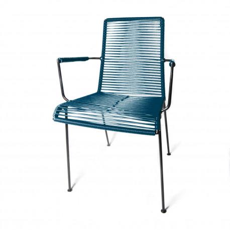 Chaise avec accoudoir Bleu Ocean