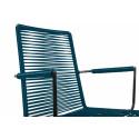 chaise fil avec accoudoir Bleu Ocean