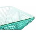 Détail de Très Grande table design Vert Turquoise